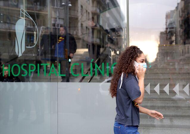 Une rue de Barcelone pendant l'épidémie de coronavirus (archive photo)