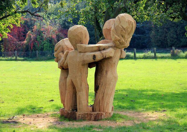Une statue en bois (image d'illustration)