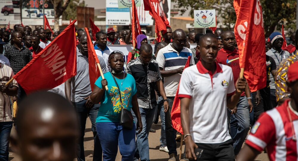 Des manifestants au Burkina Faso