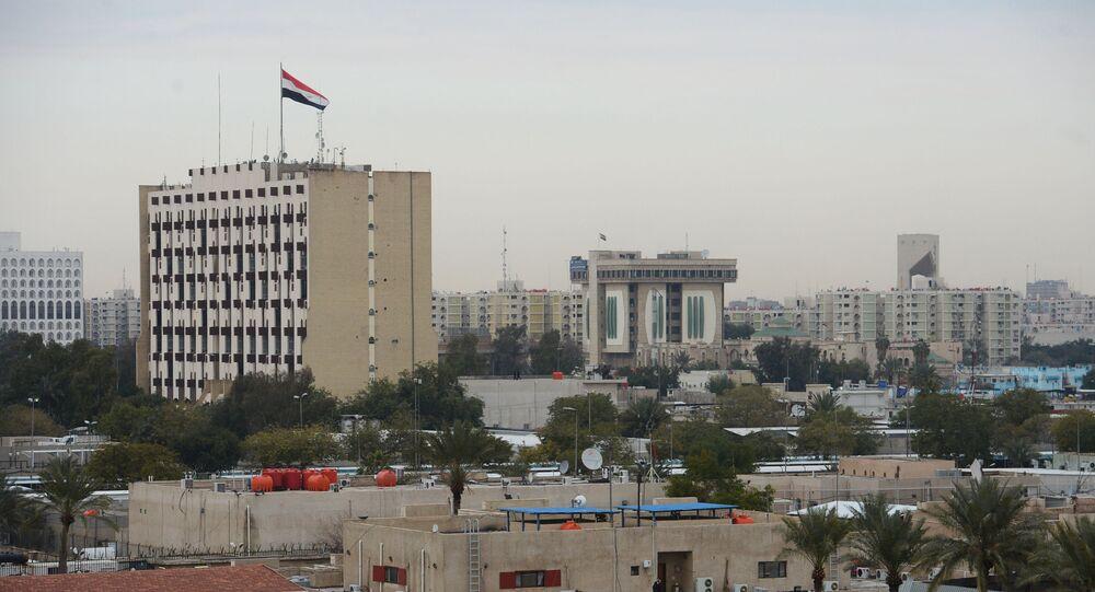 La zone verte à Bagdad, Irak