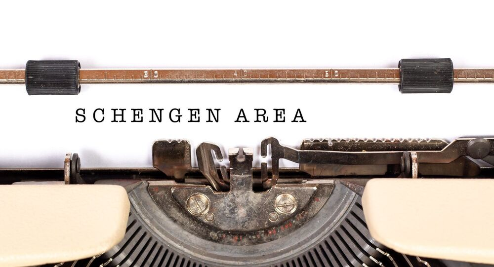 Inscription «espace Schengen»