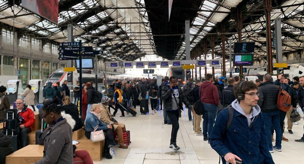 Gare de Lyon à Paris, le 16 mars 2019