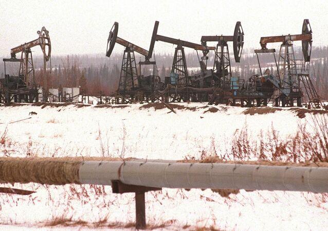 Champ de pétrole dans la région de Sourgout, en Sibérie (Russie)
