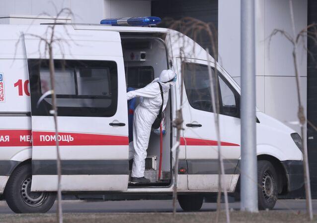 Une ambulance russe (image d'illustration)