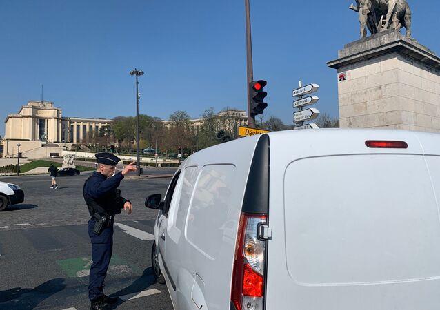Les rues de Paris désertées lors de la troisième journée de confinement, 19 mars 2020