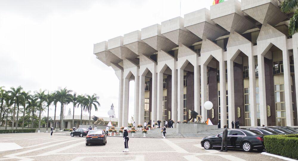 Le palais présidentiel à Yaoundé (Cameroun)