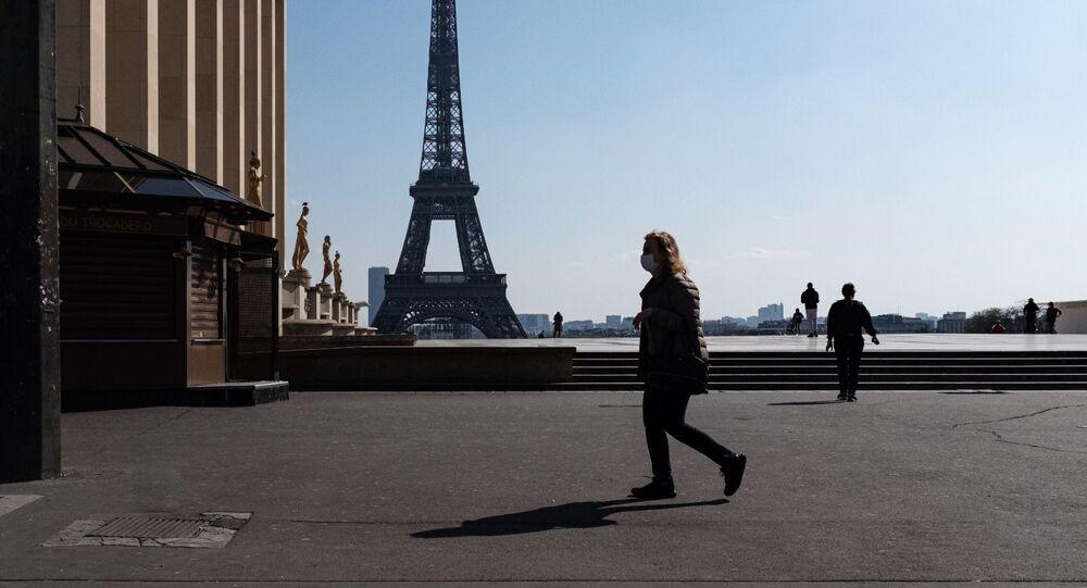 La ville de Paris lors de la troisième journée de confinement, 19 mars 2020