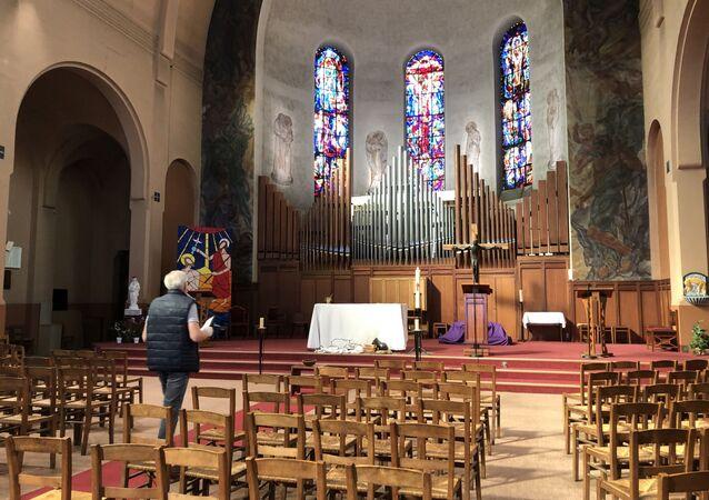 L'église catholique Saint-Gabriel de Paris, rue des Pyrénées