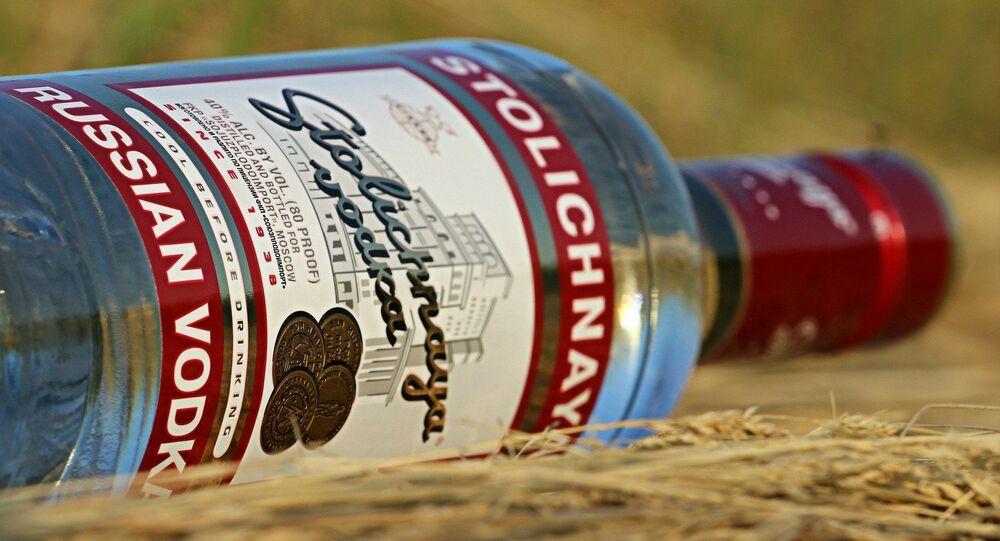 Une bouteille de vodka