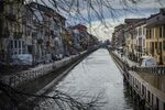 Канал района Навильи в Милане.
