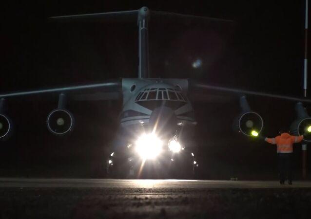 Un avion militaire russe arrivé en Italie