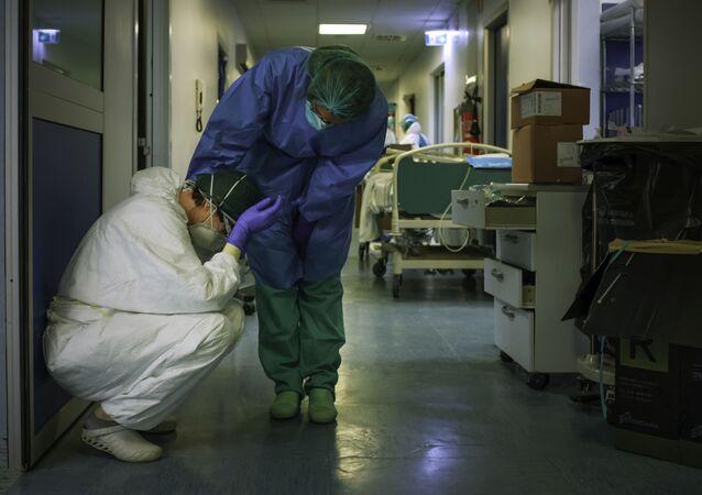 Des infirmières en Italie