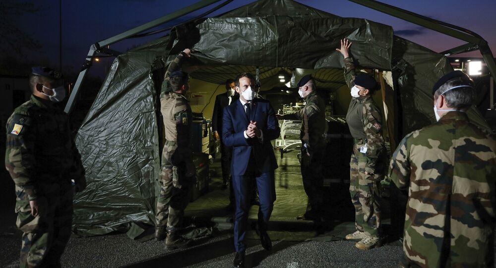 Emmanuel Macron lors de sa visite à Mulhouse