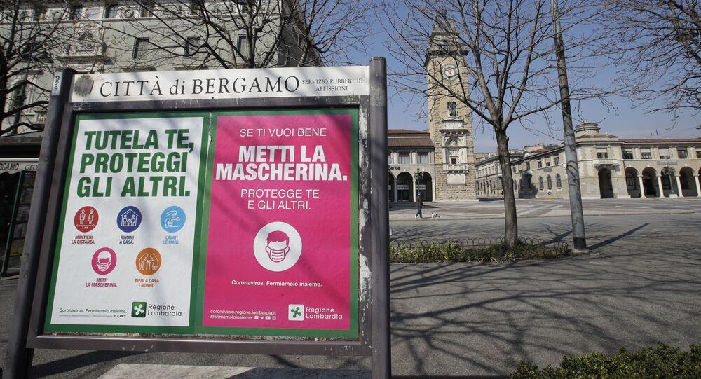 La ville italienne de Bergamo pendant la pandémie de coronavirus (archive photo)