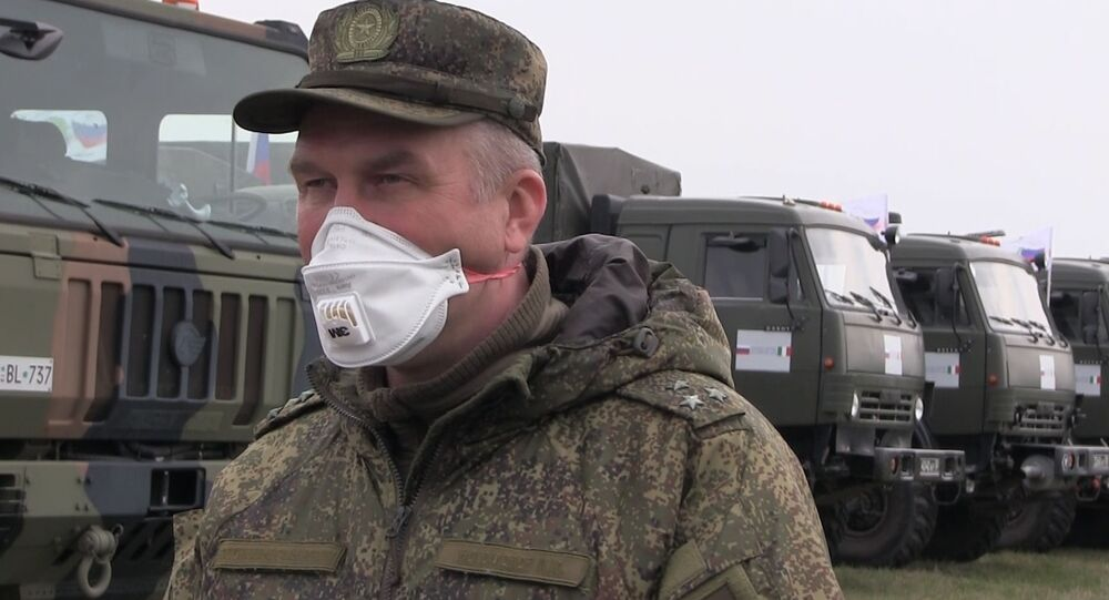 Des militaires russes à Bergame