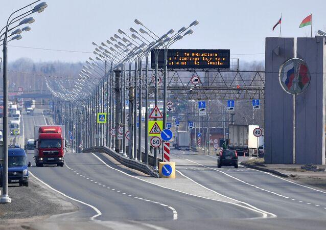 frontière entre la Russie et la Biélorussie