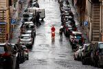 Une rue déserte de Rome pendant l'épidémie de coronavirus (archive photo)