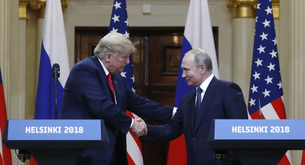Une rencontre de Vladimir Poutine et Donald Trump (archive photo)