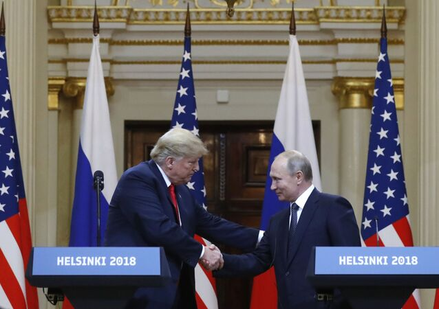 Une rencontre de Vladimir Poutine et Donald Trump (archive photo)