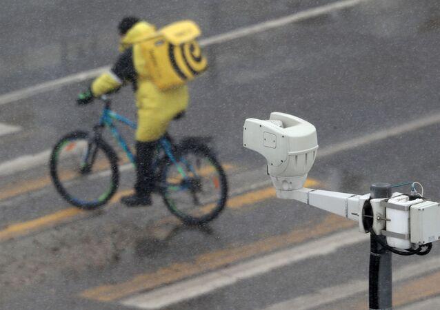 Une caméra de surveillance à Moscou
