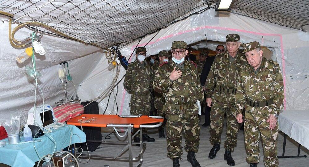 Visite du chef de l'état-major de l'ANP au 52e régiment de la santé militaire à Bouira