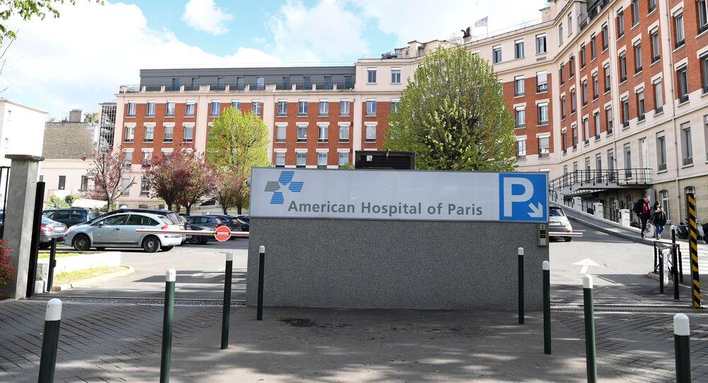 L'entrée de l'Hôpital américain de Paris à Neuilly.