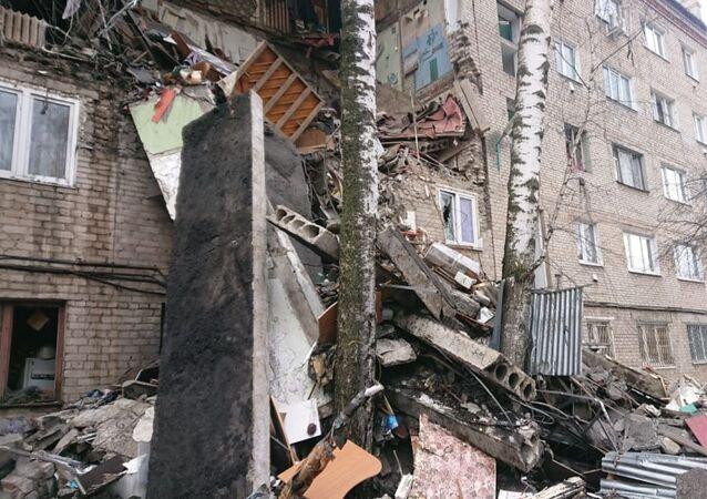 Effondrement partiel d'un immeuble suite à une explosion de gaz près de Moscou