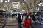 Gare de Kazan à Moscou, 5 avril 2020