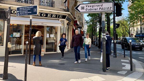 Paris en confinement pendant l'épidémie du Covid-19, 15 arrondissement, 7 avril 2020 - Sputnik France