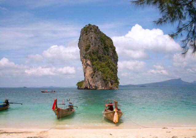 Une plage thaïlandaise
