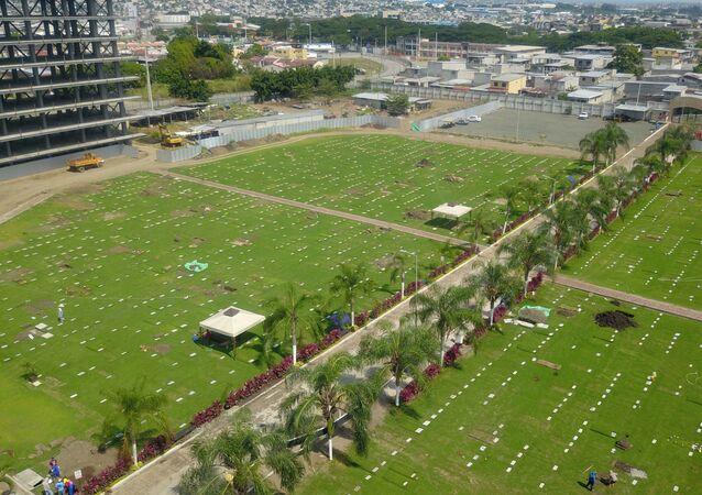 le cimetière Jardines de la Esperanza à Guayaquil, Équateur