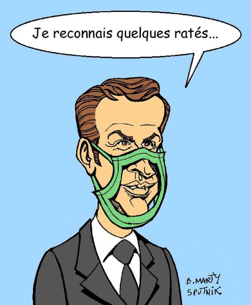 Macron fait son mea-culpa sur les pénuries de masques et de gel hydroalcoolique