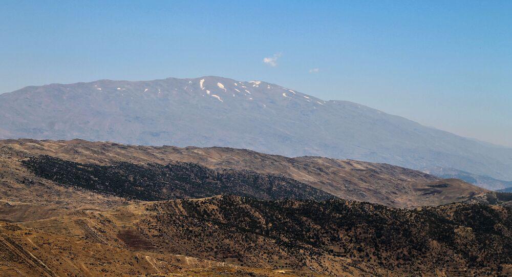 Mont Hermon, à la frontière syro-libanaise
