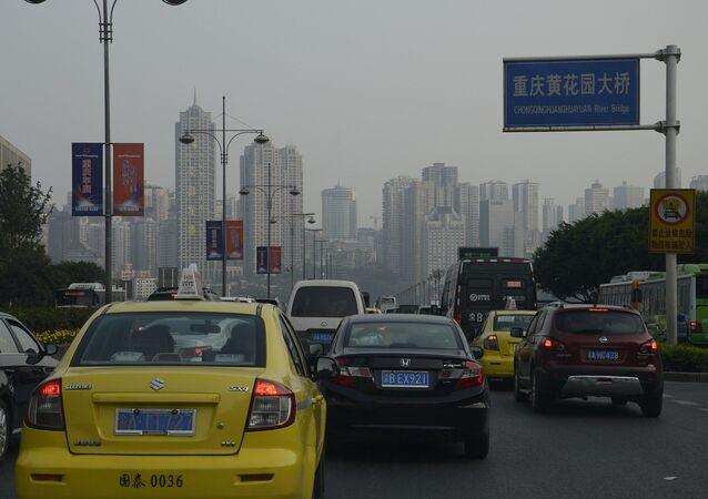 Des voitures en Chine