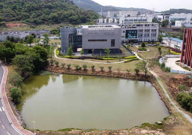 Vue aérienne du laboratoire P4 à l'Institut de virologie de Wuhan