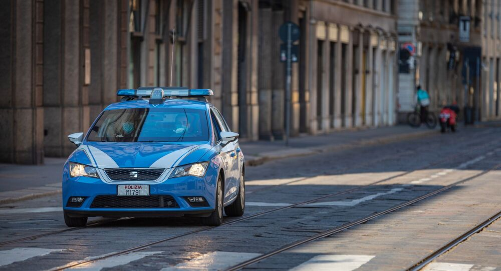 Véhicule de police italien