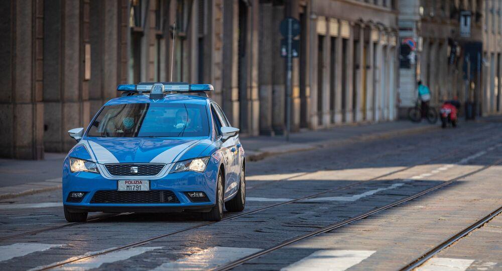 Véhicule policier en Italie