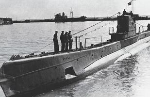 Un sous-marin soviétique du type Chtch