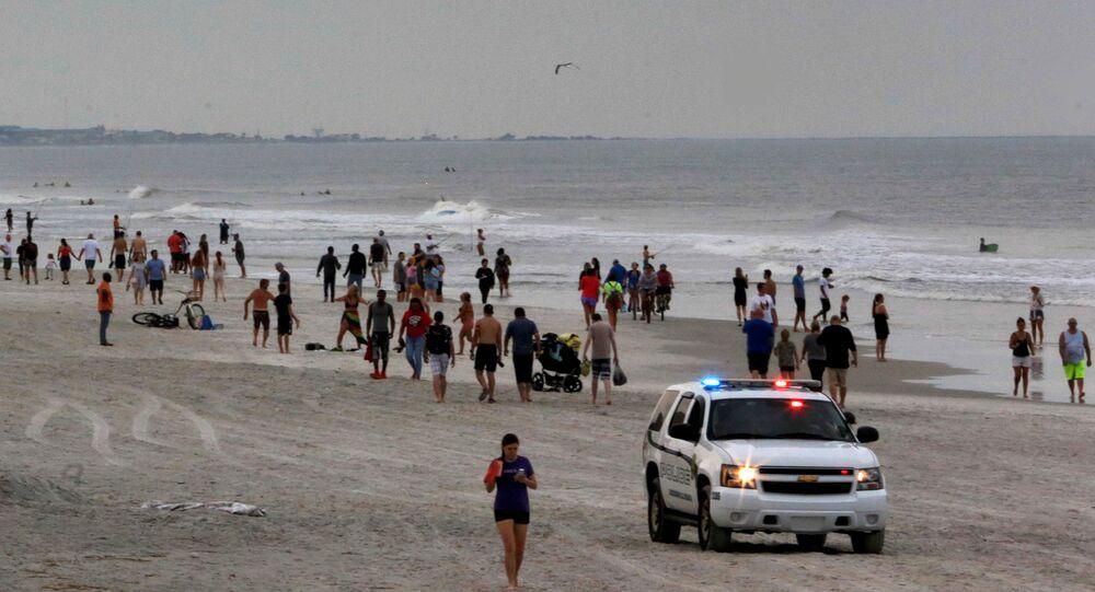 Une plage de Jacksonville, le 18 avril 2020