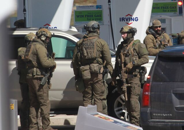 la police dans la province de Nouvelle-Ecosse, sur la côte Est du Canada