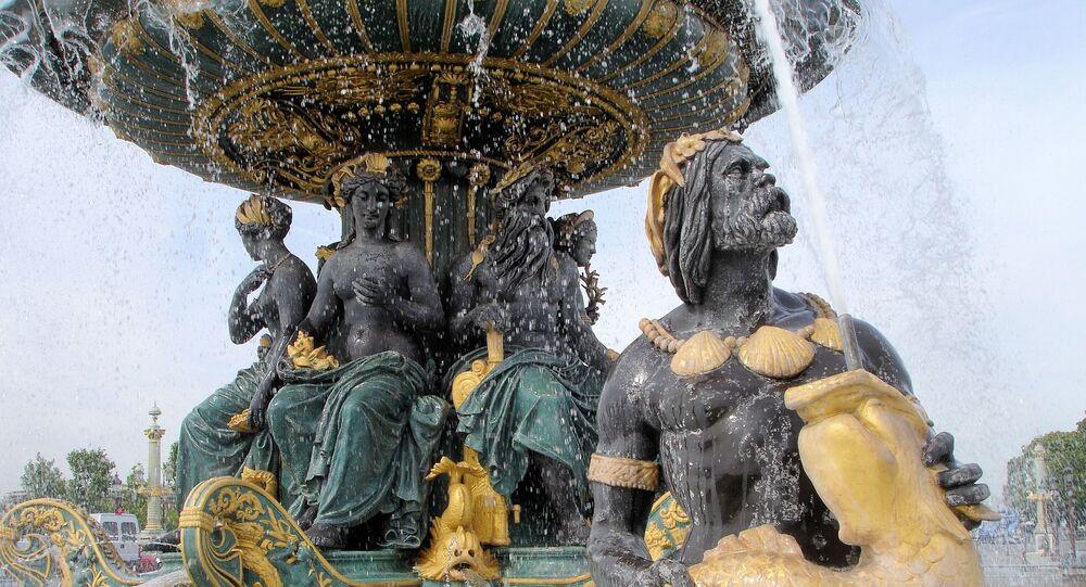 La fontaine de la place de la Concorde