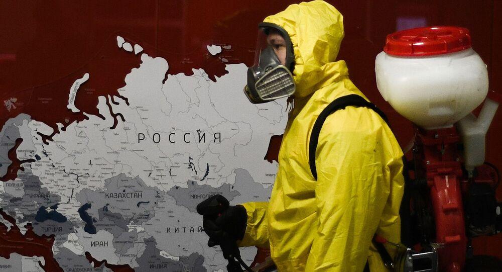 Désinfection des gares à Moscou