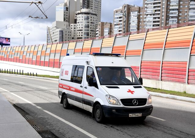 Une ambulance à Moscou