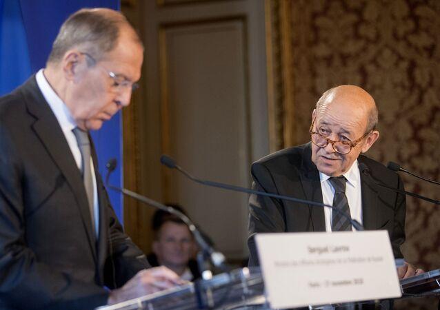 Sergueï Lavrov et Jean-Yves Le Drian (archive photo)