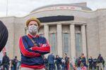 Manifestation pour la défense des droits constitutionnels sur la Rosa-Luxemburg-Platz, à Berlin