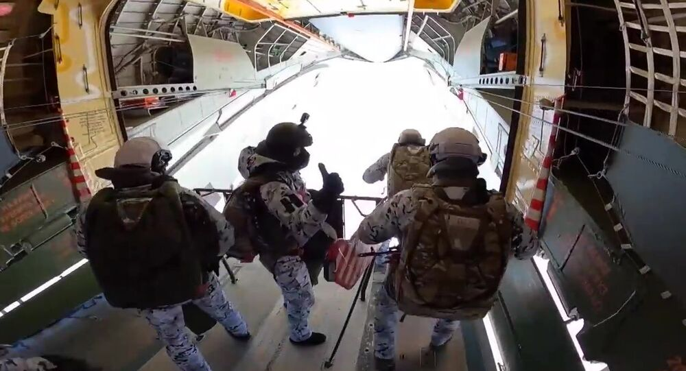 Des militaires des Forces aéroportées russes