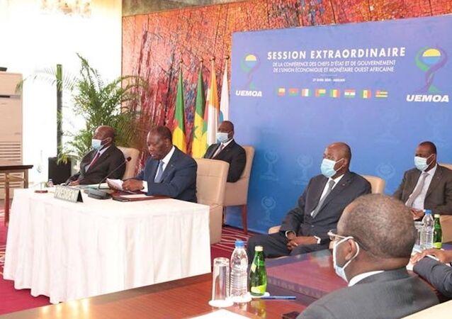 Alassane Ouattara préside la cérémonie d'ouverture de la Conférence des chefs d'État de l'UEMOA