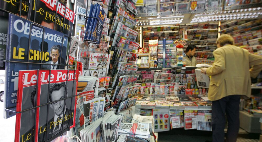 A picture taken 07 May 2007 in a Parisian newstand shows frontpages magazines featuring the new French President Nicolas Sarkozy. Sarkozy won 53 percent of the vote, defeating Royal, who garnered 47 percent. AFP PHOTO DAMIEN MEYER (Photo by DAMIEN MEYER / AFP)