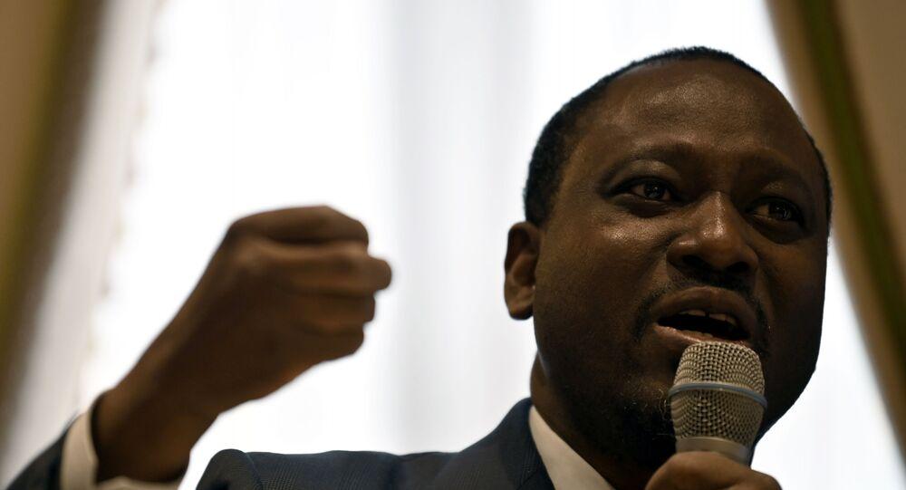 Guillaume Soro, opposant d'Alassane Ouattara à la présidentielle de Côte d'Ivoire