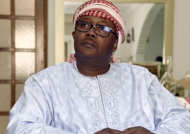 Umaro Sissoco Embalo, chef du Mouvement pour l'alternance démocratique (Madem-G15), parti de Guinée-Bissau